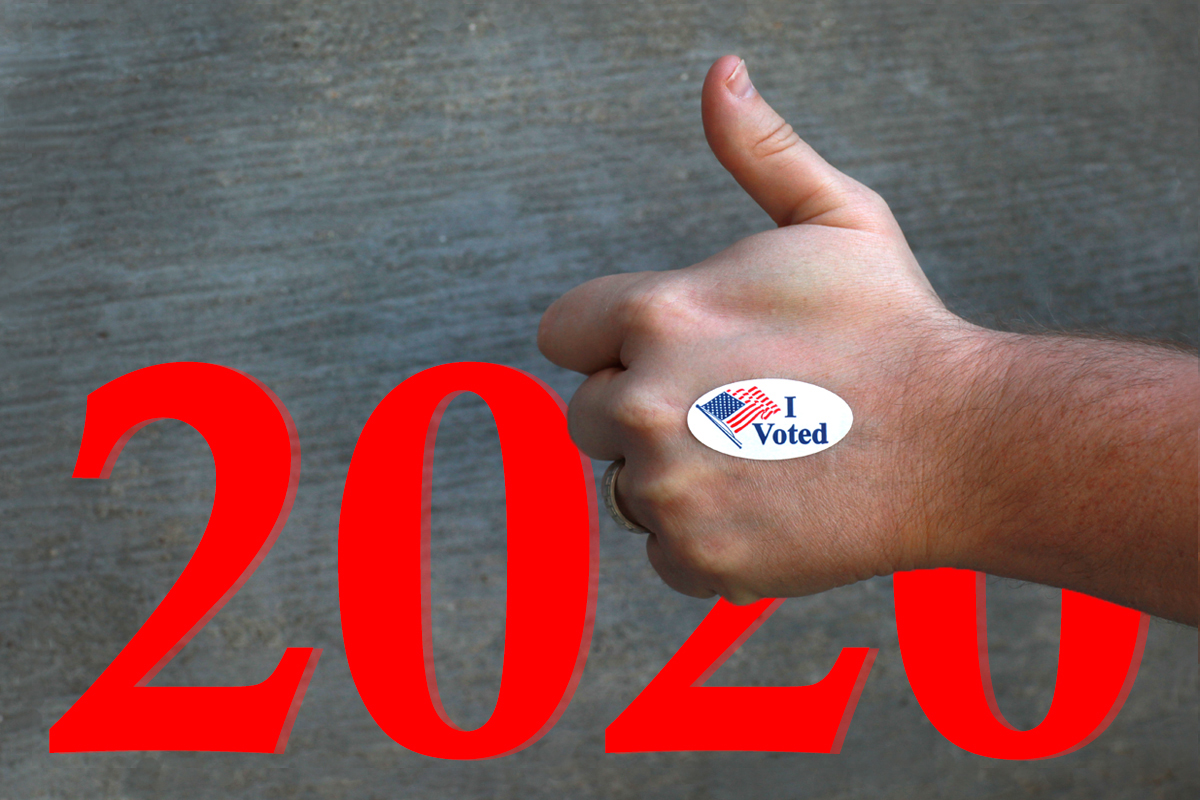 Con la fecha límite para el registro de votantes acercándose rápidamente en muchos estados, el pueblo metodista unido está ayudando a registrar votantes para el 3 de noviembre, Día de las Elecciones en los Estados Unidos. Fotografía de Kathleen Barry, gráfico de Laurens Glass, Noticias MU.