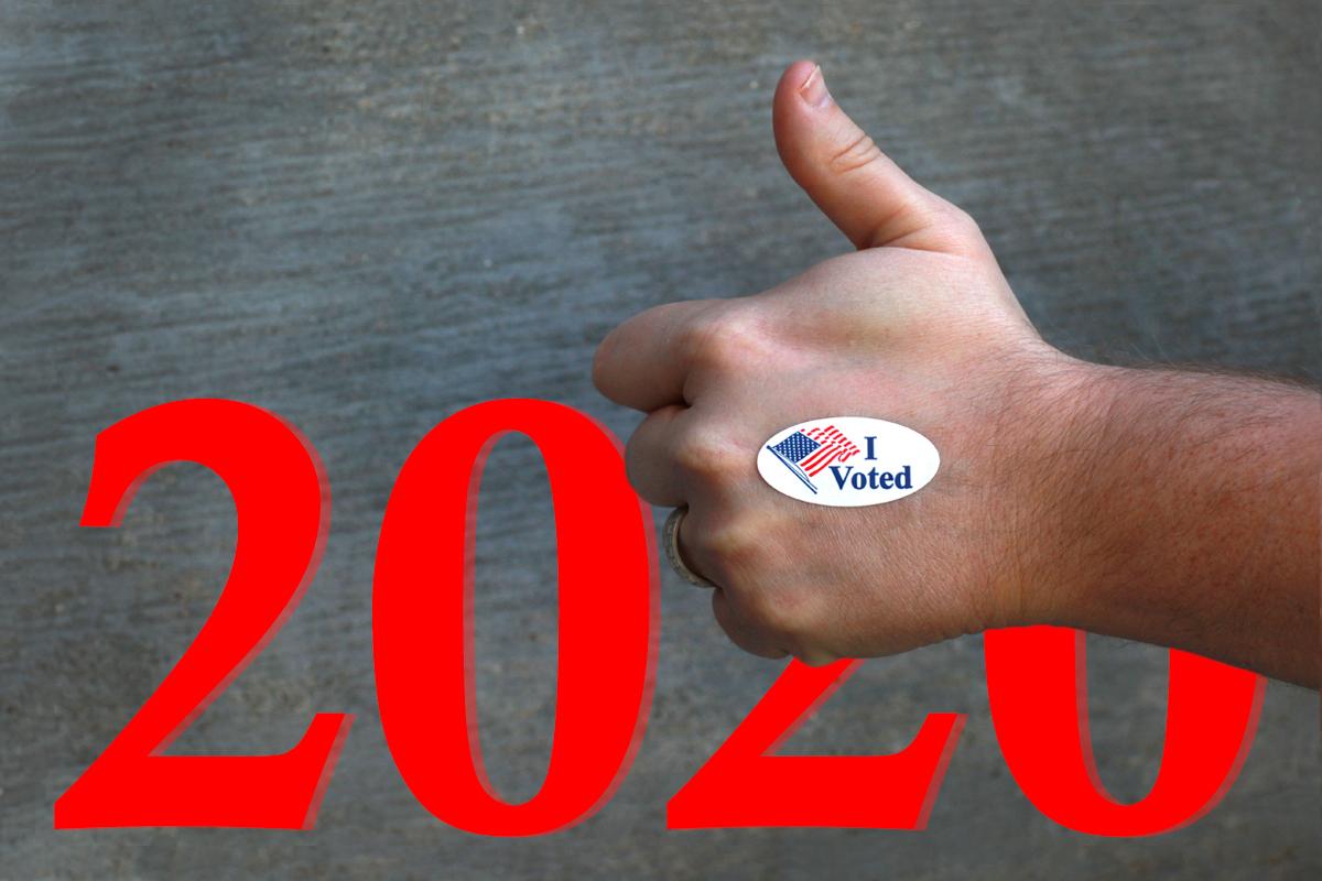 Com o prazo final para o registro de eleitores se aproximando rapidamente em muitos estados, os Metodistas Unidos estão ajudando a registrar os eleitores para o dia da eleição em 3 de novembro nos EUA. Foto: Kathleen Barry; gráfico por Laurens Glass, Notícias MU.