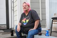 Billie Jean Baker has an apartment now but for about three years had no home of her own and often slept outside Dallas' Oaklawn United Methodist Church. She recently received a Harry Denman Evangelism Award for helping the church expand its ministry with the homeless. Photo by Sam Hodges, UM News.
