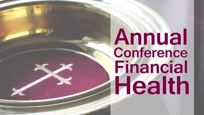 More than seven months into the COVID-19 pandemic, the financial outlook for conferences is decidedly mixed. But even with reduced giving, conference treasurers are saying the situation is not as dire as it appeared in the spring. Photo by Kathryn Price, United Methodist Communications; graphic by Laurens Glass, UM News.