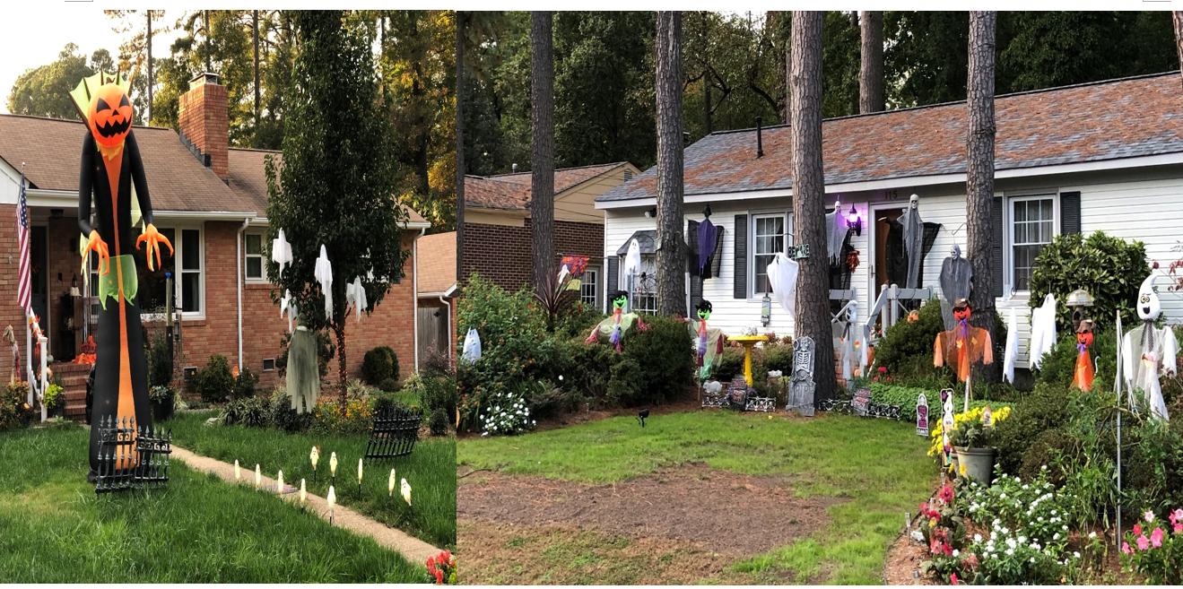 미국의 한 가정이 할로윈을 기념하기 위해 집 앞마당을 유령 인형 등으로 장식했다. 사진, 김응선 목사, 연합감리교뉴스.