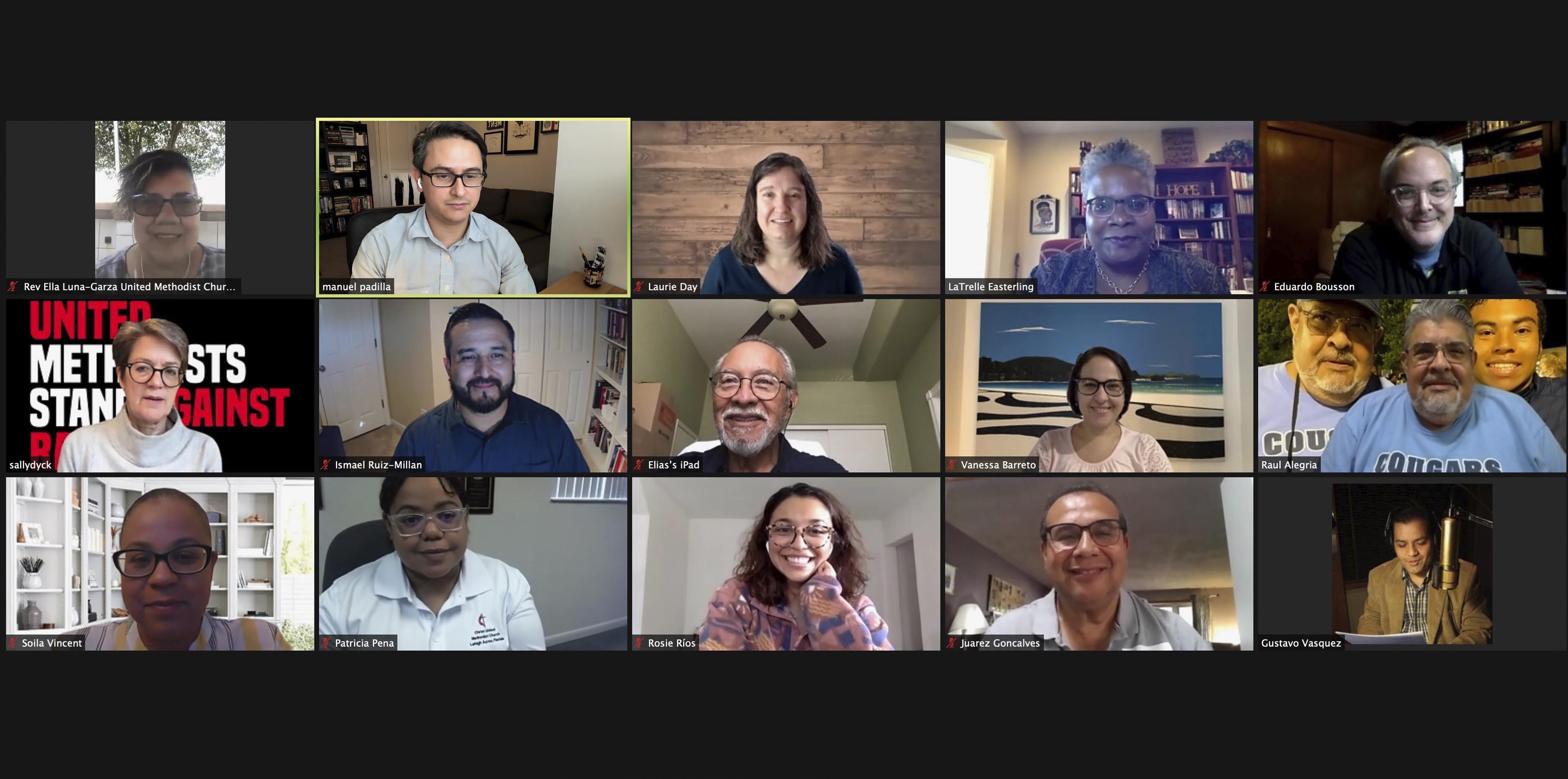 Entre el 22 y 23 de octubre la junta directiva del PNMHL estuvo reunida de manera virtual. Captura de pantalla cortesía de Manuel Padilla , PNMHL.