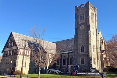 """What once was the First United Methodist Church in North Adams, Mass., is now the Berkshire Art Museum. The Rev. Thomas Frank writes about the transition in his new book """"Historic Houses of Worship in Peril."""" Photo courtesy of the Berkshire Art Museum."""