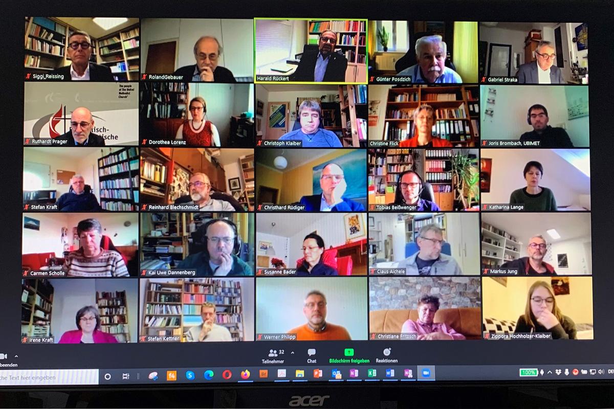 El Comité Ejecutivo de la Iglesia Metodista Unida en Alemania acordó ser más abierto e inclusivo en asuntos relacionados con la sexualidad humana durante una reunión por video del 20 al 21 de noviembre. La decisión busca preservar la unidad a través de una perspectiva de convivencia respetuosa como camino a seguir. Foto de Klaus Ulrich Ruof, Comunicaciones Metodistas Unidas de Alemania.