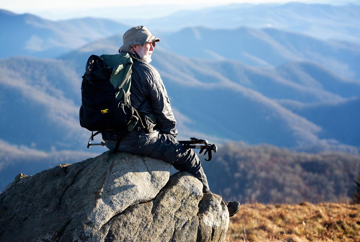 "Appalachian Trail chaplain ""Chappy Jack"" Layfield on the Appalachian Trail in Roan Mountain, Tenn. Photo by Mike DuBose, UM News."