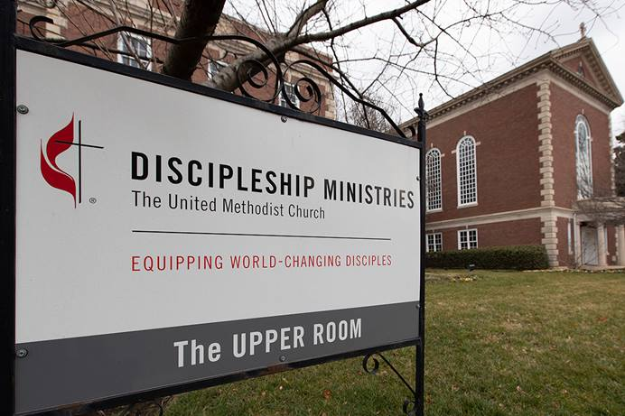 The Discipleship Ministries office in Nashville, Tenn., is being renovated to be better equipped for use post-COVID-19. Although the staff is primarily working at home, the building is being used for small staff meetings as well as a daily prayer broadcast from the Upper Room Chapel. The 13 agencies of The United Methodist Church are facing budget cutbacks among uncertainty around a potential schism. Photo by Mike DuBose, UM News.