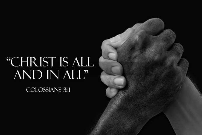 We Are One Family: Personal Encournters with Racism is a series of commentaries of personal experience with racism and the intersection of faith and justice. Hands image by truthseeker08 courtesy of Pixabay; graphic by Laurens Glass, UM News.