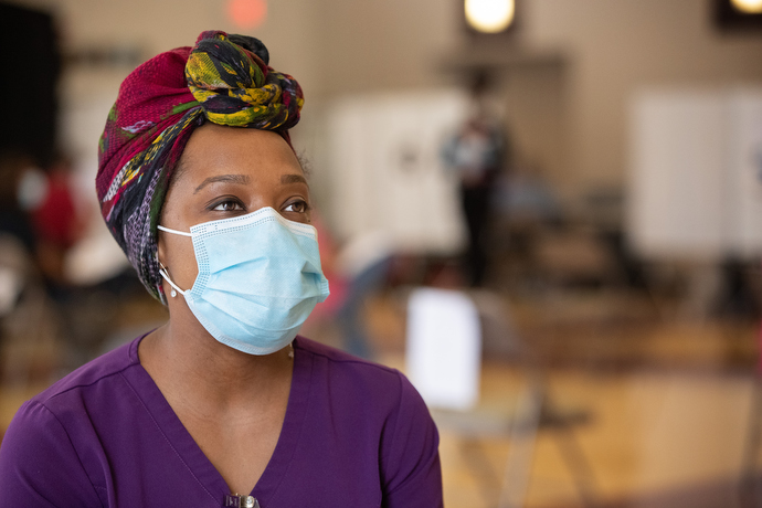 Chay Farley is a physician assistant at Meharry Medical College in Nashville, Tenn. Photo by Mike DuBose, UM News.