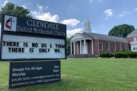 The sign in front of Glendale United Methodist Church in Nashville, Tenn., affirms that we are all one in the eyes of God. The U.S. has seen a rise in anti-Asian harassment and violence since the start of the COVID-19 pandemic. Photo by Steven K. Adair, United Methodist Communications.