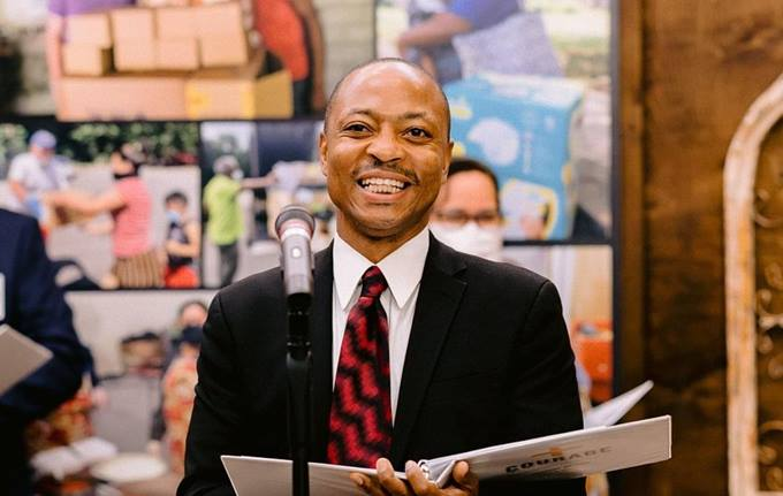 El Rev. William Williams III fue nombrado Superintendente del Distrito gateway North en la asamblea de la Conferencia Anual Ampliada de Nueva Jersey celebrada en 2020. Foto por Shari DeAngelo, Conferencia Anual Ampliada de Nueva Jersey.