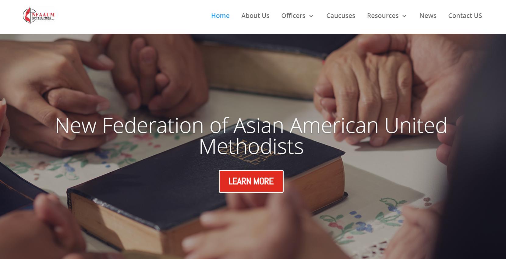 아시안연합감리교연맹(New Federation of Asian American United Methodists (NFAAUM)의 페이스북 사진 갈무리.