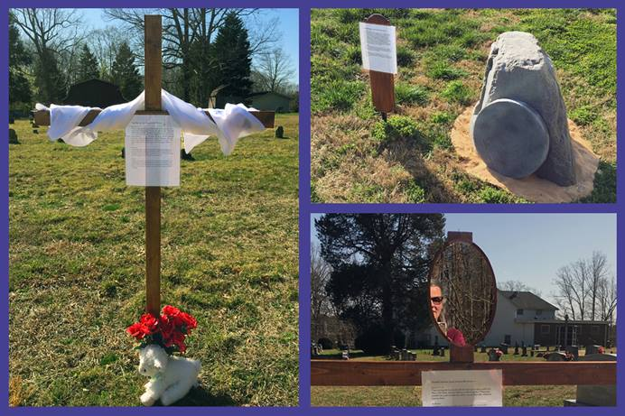 Concord United Methodist Church in Lewisville, N.C., is presenting an outdoor Stations of the Cross this year for people at the church and the community to walk through different reminders of Christ's passion. In this second year of the pandemic, churches continue to be creative while safely observing this holy season in the Christian calendar. Photos by Teresa Reece, Concord United Methodist Church.