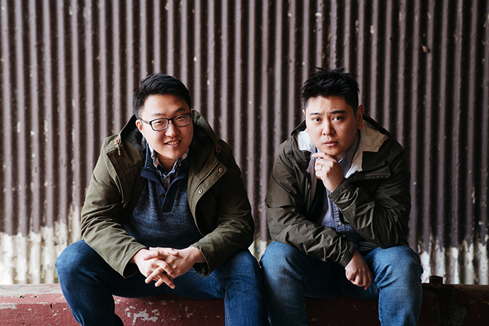 Filmmakers Peter Lee (left) and Julian Kim discovered their love of filmmaking through the youth ministry program at First United Methodist Church in the Flushing neighborhood in Queens, N.Y. Photo courtesy of Jebby Productions.