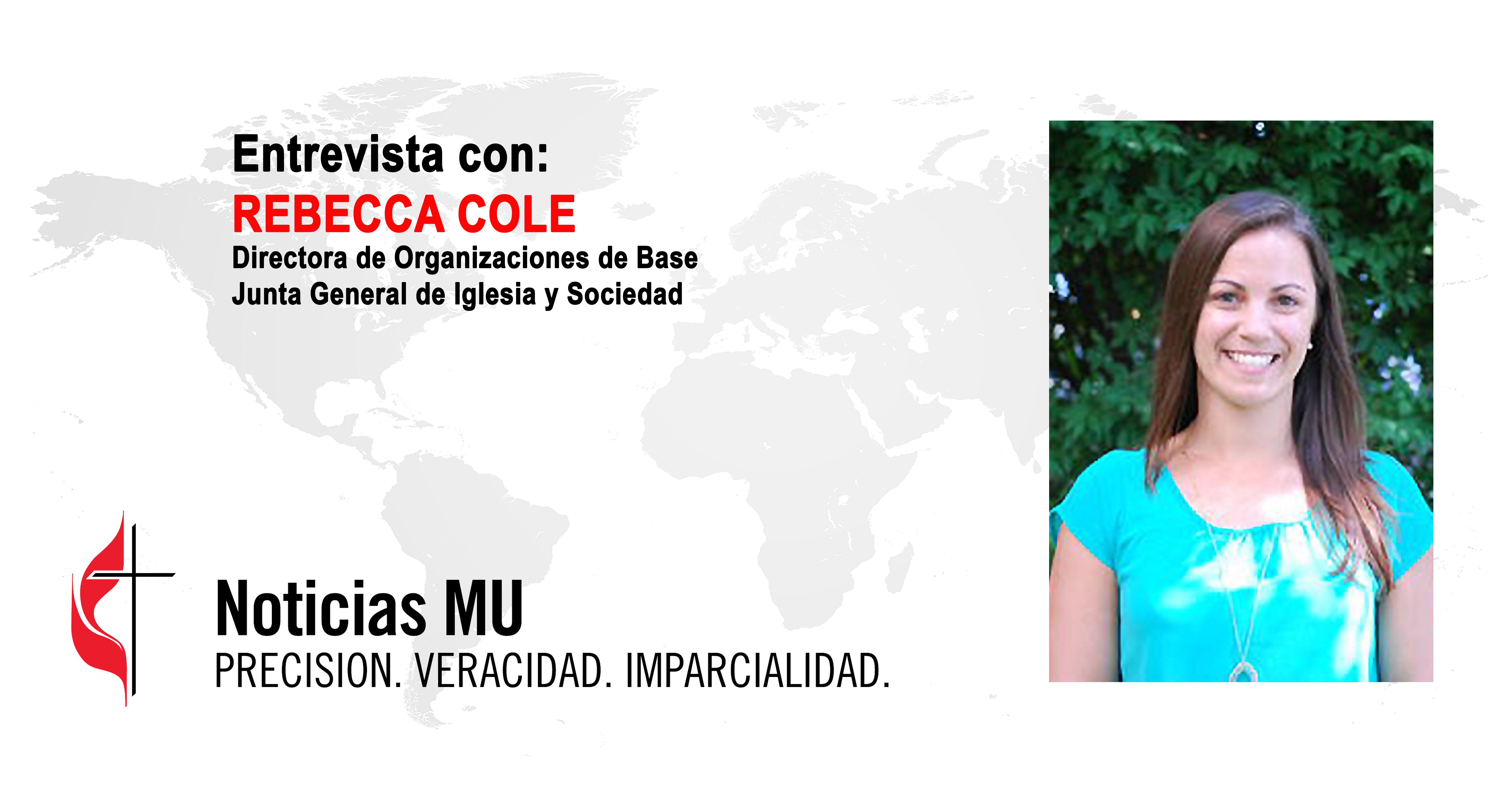 Rebecca Cole, es una joven líder de origen cubano-estadounidense que coordina la promoción de las relaciones de La Iglesia Metodista Unida con organizaciones sociales de base. Fotocomposición Rev. gustavo Vasquez, Noticias MU.