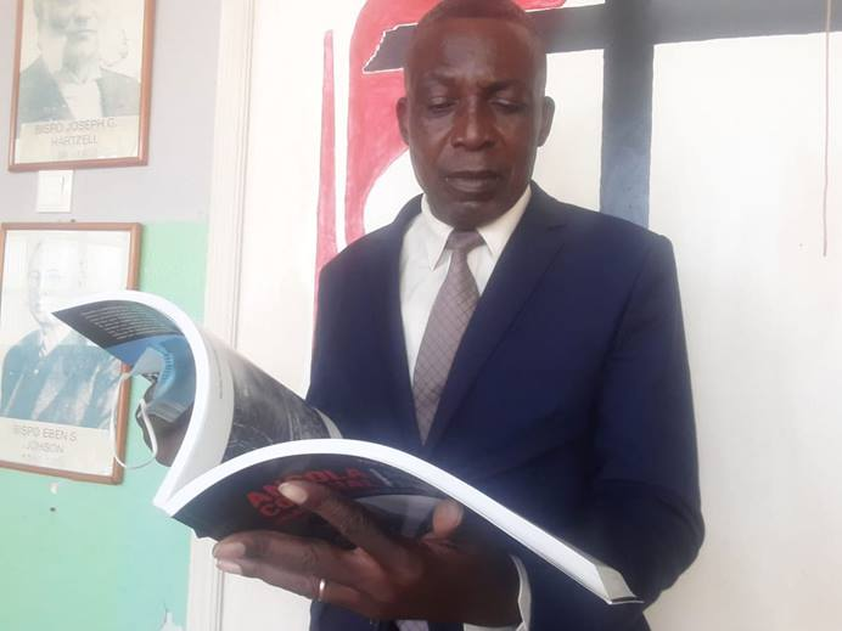Reverendo José Malhado - Historiador da Conferencia Anual do Oeste de Angola.  Luanda, foto de Augusto Bento.