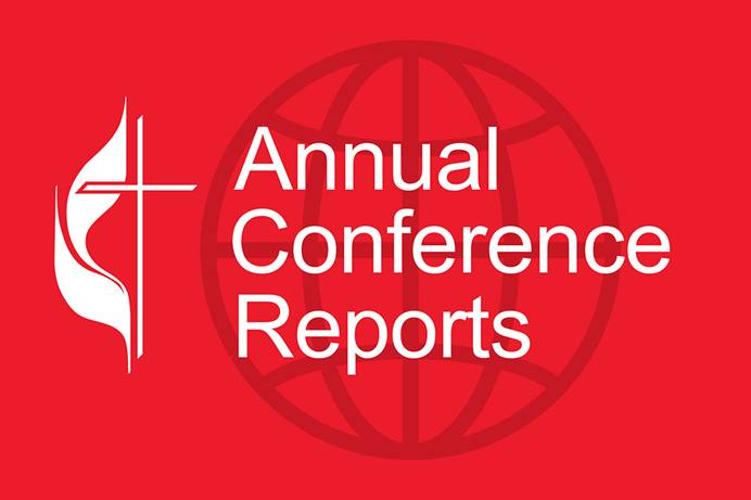 United Methodist News posts reports from annual conferences around the connection. World graphic by Josy Dom Alexis; image for Annual Conference Reports, United Methodist News, 2021.
