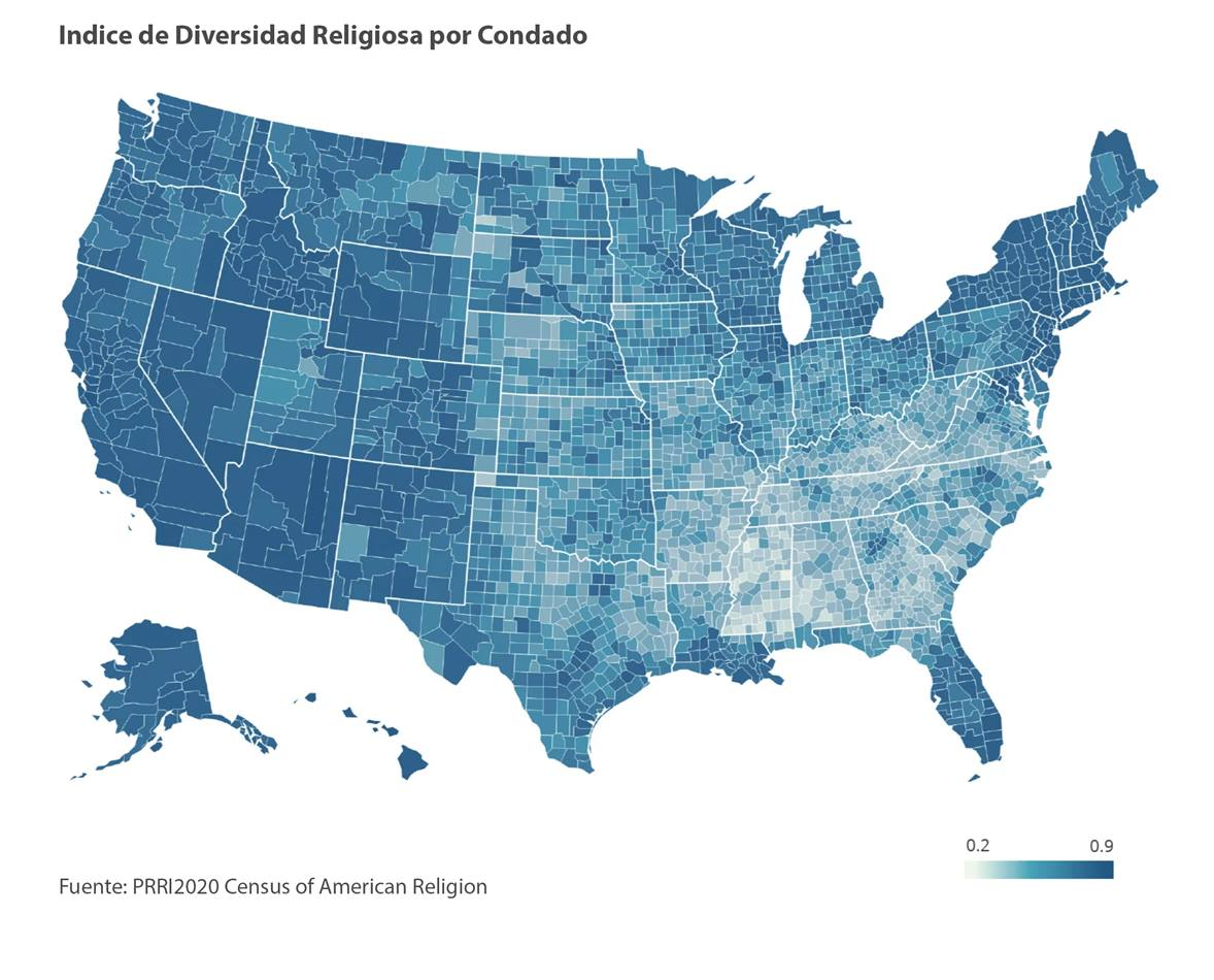 Gráfico cortesía de PRRI Census of American Religion.