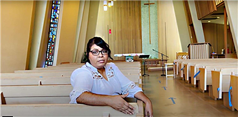La Pastora Vicky Flores en la Iglesia Metodista Unida (IMU) Grace en Fresno, CA, donde está creciendo en el ministerio con la comunidad hispana/latina. Foto cortesía de la Conferencia Anual California-Nevada.