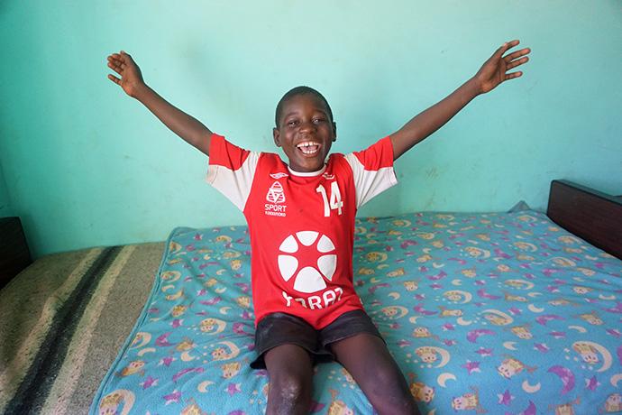 Evidence Gaison lives at Home of Hope, the orphanage at Nyadire United Methodist Mission in Mutoko, Zimbabwe. Photo by Kudzai Chingwe, UM News.