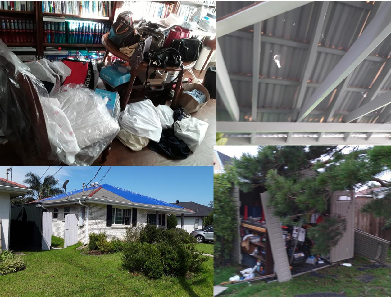 뉴올리언즈 한인연합감리교회의 사택과 교회의 파손된 모습 콜라쥐. 사진 제공, 이동섭 목사