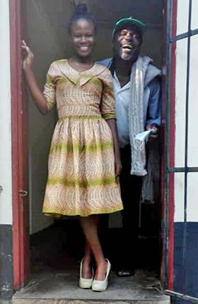 Mellan Nyagato poses with her late father, Enock, who died of COVID-19 in July 2020. Photo courtesy of Mellan Nyagato.