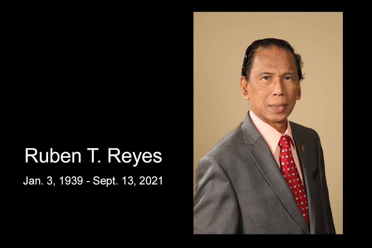Ruben T. Reyes, who was an associate justice of the Supreme Court of the Philippines and a longtime member of the United Methodist Judicial Council, died Sept. 13 at age 82. Photo by Kathleen Barry, United Methodist Communications.