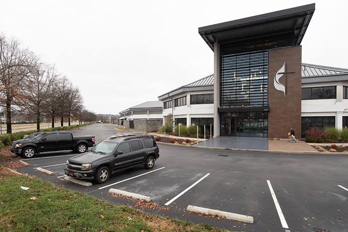 Ongoing financial challenges, made worse by the pandemic, have prompted big changes for the United Methodist Publishing House. The self-supporting agency has sold its Nashville, Tennessee, campus (pictured here) to a Chicago real estate firm, and has transferred the assets and management of a pension fund to Wespath Benefits and Investments. File photo by Mike DuBose, UM News.